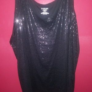 NWOT Lane Bryant Black sequin tank top